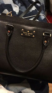 Black Kate Spade purse w/ cross strap