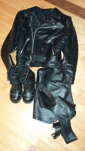 motorcycle leather jackets / bike / boots / chap's