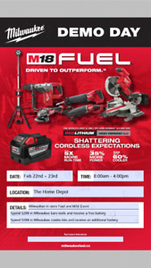 Milwaukee Tools 2 day in store event