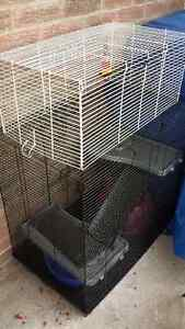 Deluxe rat cage with second cage connected on top