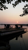 Lakeside Tent Cabins Available! Massive Floating Deck! Aug. 14th