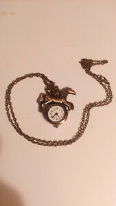 Horse Watch Necklace