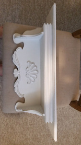 "24"" x 6"" white wooden shelf"