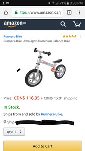 Runners balancing bike