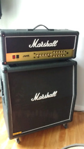 Marshall JVM 205H and Lead 1960 cab with Greenies