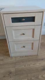 3 bedside drawer