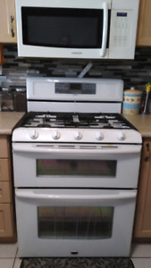 Gas rang dish washer and over the range microwave