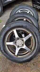 """Honda / Acura 15"""" Spyn Rims with tires Best Offer Today !!"""