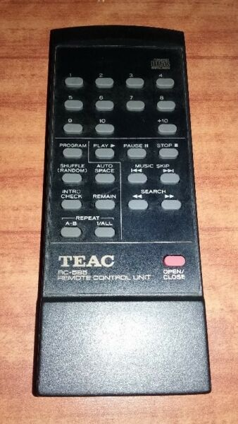 VERY NEW CONDITION OF TEAC RC-585 REMOTE CONTROL FOR TEAC CD PLAYER.