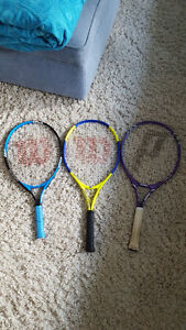 3 Junior Tennis Racquets excellent condition