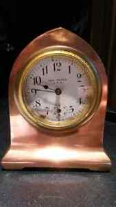 Vintage Solid Brass Clock