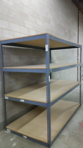 INDUSTRIAL SHELVES, USED