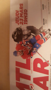Billets de hockey du Canadiens à vendre. / Habs hockey tickets