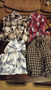 4 girls Flannel Tops