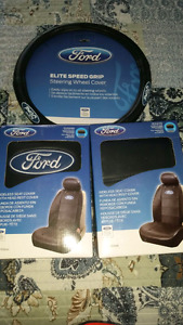 FORD Steering wheel cover & 2 seat covers