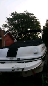 2005 Deck Boat with Trailer 19,500