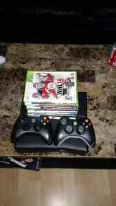 XBOX 360 w/ 7 games and 2 controller's