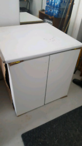 SELLING ::: White Double Door Vanity Brand New from Builder