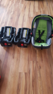 Graco car seat and 2 bases