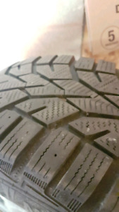 Snow tires 205/55R16 mounted