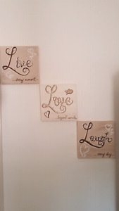Live. Love.  Laugh: hand painted