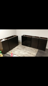 assembled and new ikea sektion cabinets for bar or kitchen