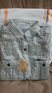 Studio D'Artisan Sashiko Nel Shirt i(white) Size M, -38