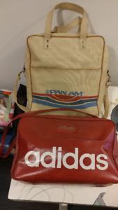 vintage retro pan am and adidas sports bags 254fda86d393c