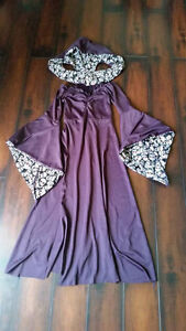 Girls Halloween gown with hood