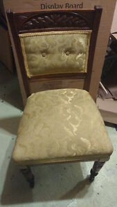2 identical antique chairs