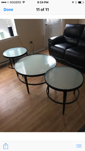 Glass end tables-- great condition
