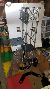 2 Trade Show Media Towers with hard Case + extras
