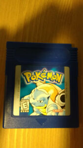 Gameboy Color Pokémon Blue Game