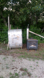 Oil tank and woodstove