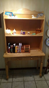 Wooden Hutch with Drawer