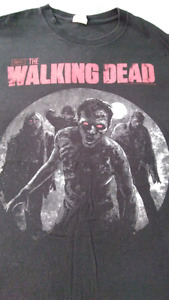 Amc the walking dead size large tshirt used zombies