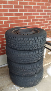 Set of 4 Winter Tires with Steel Rims
