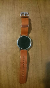 Moto 360 2nd Gen Silver w/ Brown Leather Strap - Great Condition Cambridge Kitchener Area image 4