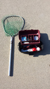 FISHING NET WITH TACKEL BOX WITH ACCESSORIES