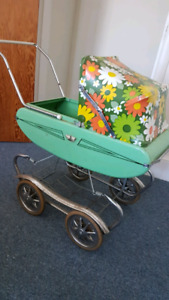 Antique play doll stroller