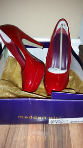 New Madden Girl Red Size 7.5 shoes.