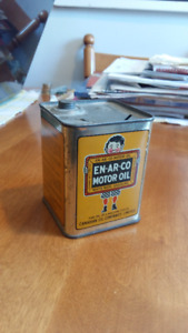 RARE VINTAGE EN-AR-CO SQUARE TIN COIN BANK;