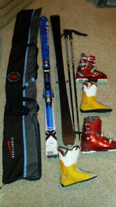 Skis, poles, boots