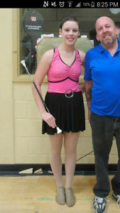 Pink and Black Dance Costume