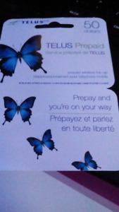 Telus prepaid cell phone card $50