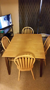 Kitchen Table (solid wood) c/w 4 chairs - offers welcome