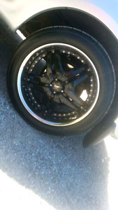 5 bolt Dodge and Ford American racing rims and tires