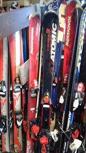 SKIS ALPINS junior 100.110,120,130  avec bottes 10 photos