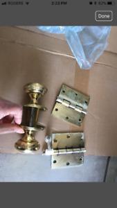Door knob and Hinges