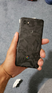 Great Condition 128 GB Pixel 2 XL with Black Camo Skin - $650